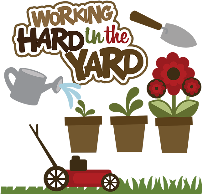 Clip art for pinterest. Working clipart yard work