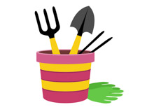 Gardening clipart. Free clip art pictures