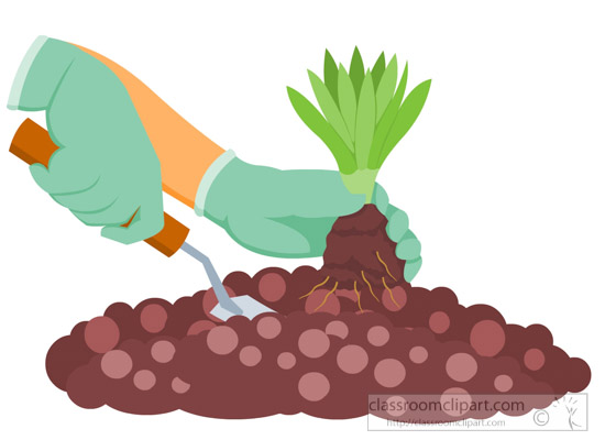 Planting clipart. Free gardening clip art