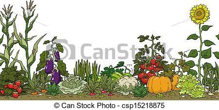Garden and stock illustrations. Gardening clipart backyard gardening