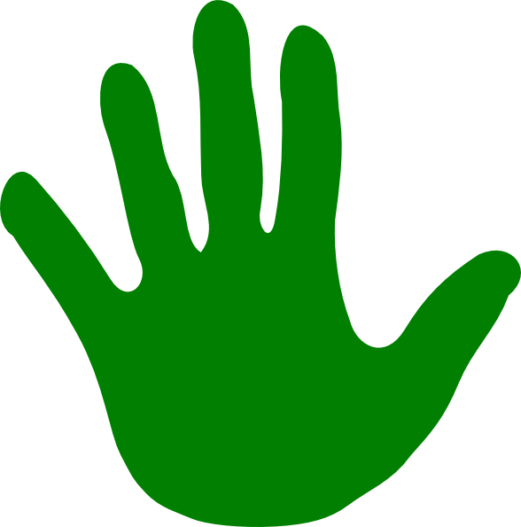 Green left clip art. Gardening clipart brown hand