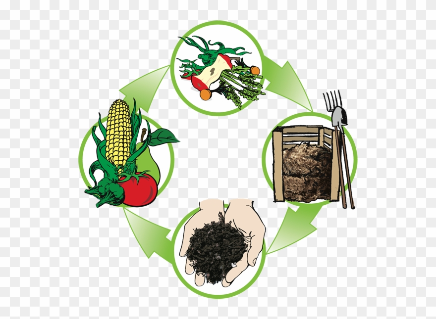 On march at garden. Gardening clipart compost