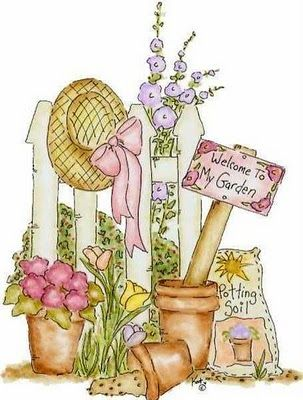 Gardening clipart country. Such a shabby chic
