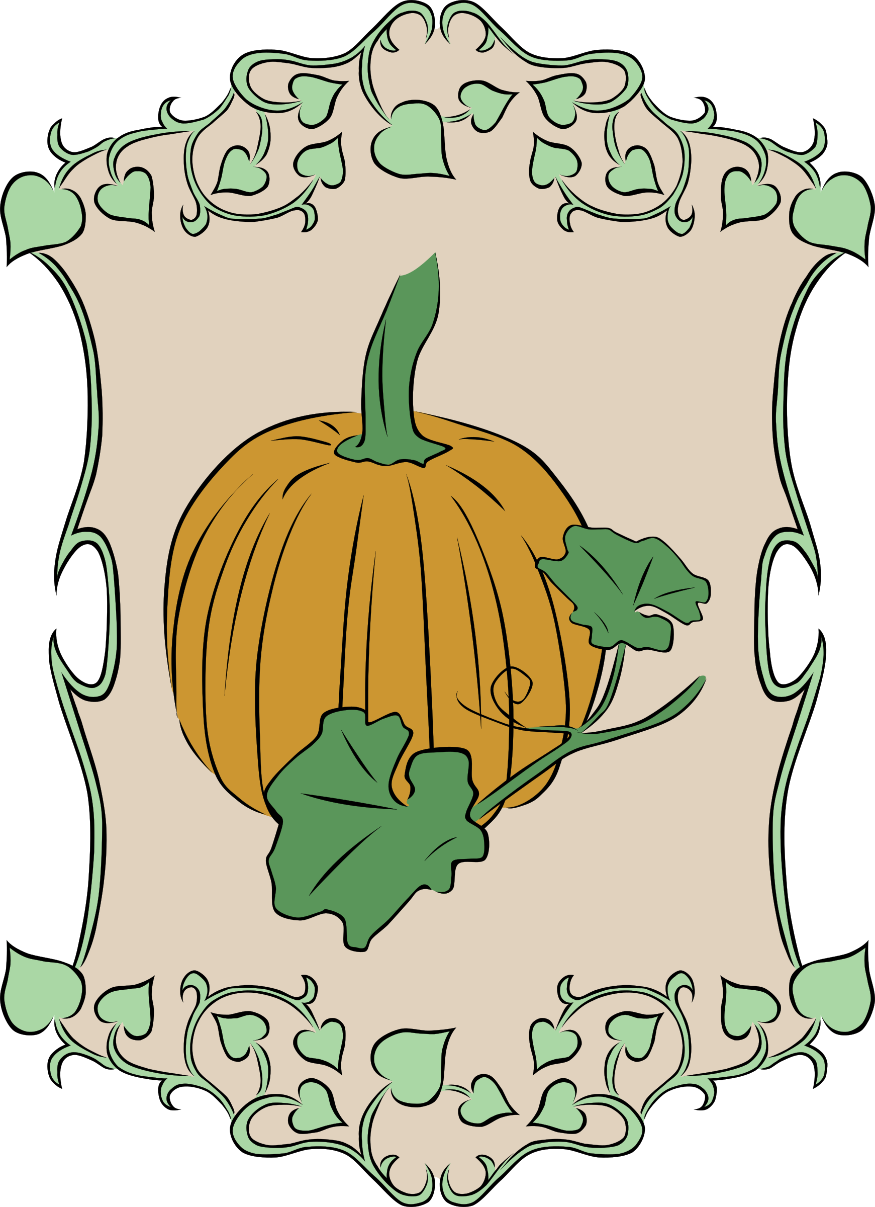 Garden sign pumpkin icons. Gardening clipart crop production