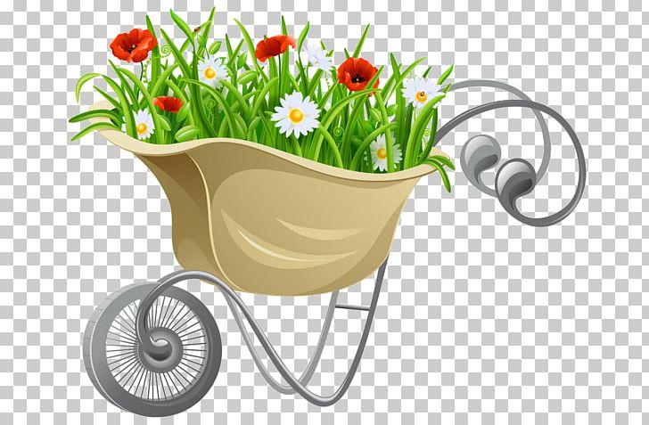Wheelbarrow png computer icons. Gardening clipart flower cart