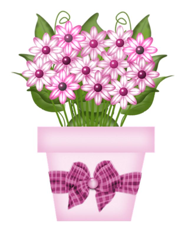 Gardening clipart garden bug. Ch b spotted potted