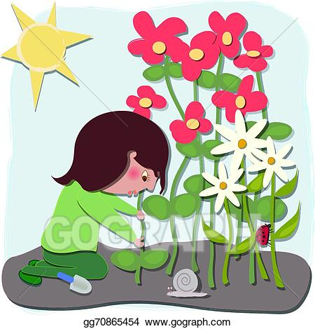 Vector art the gardener. Gardening clipart garden bug