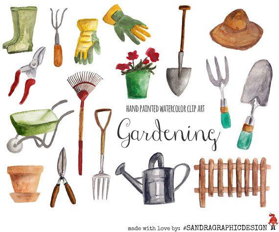 Gardening clipart gardening tool. Pin by ya va