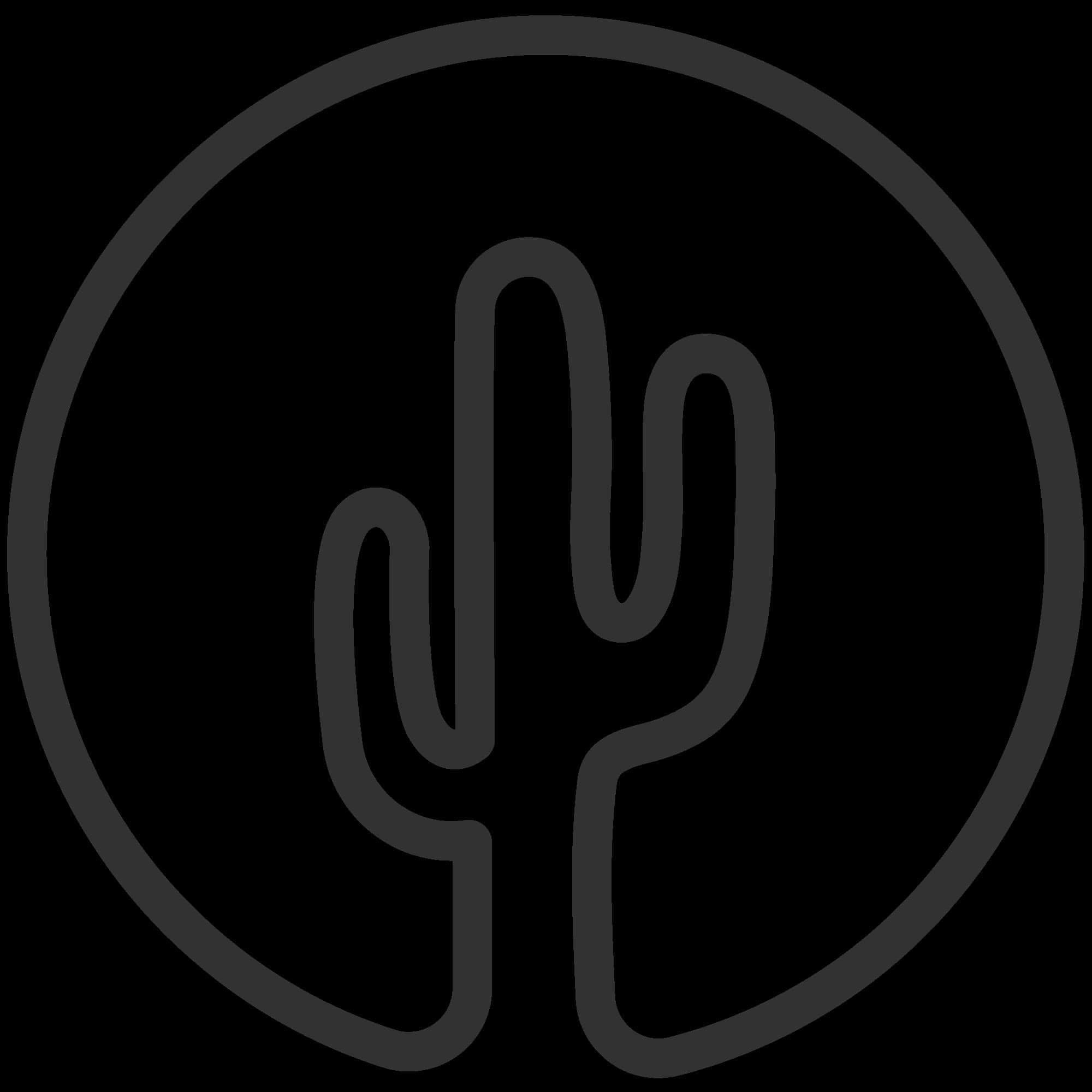 outline clipart cactus  outline cactus transparent free