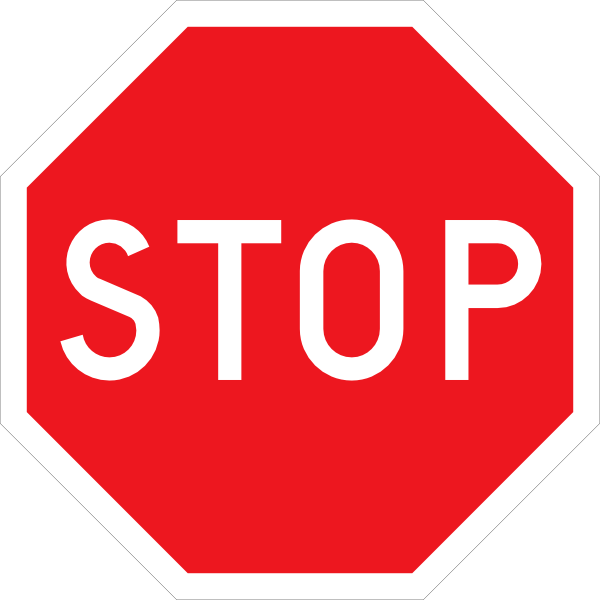 Stop sign clip art. Gardening clipart signage