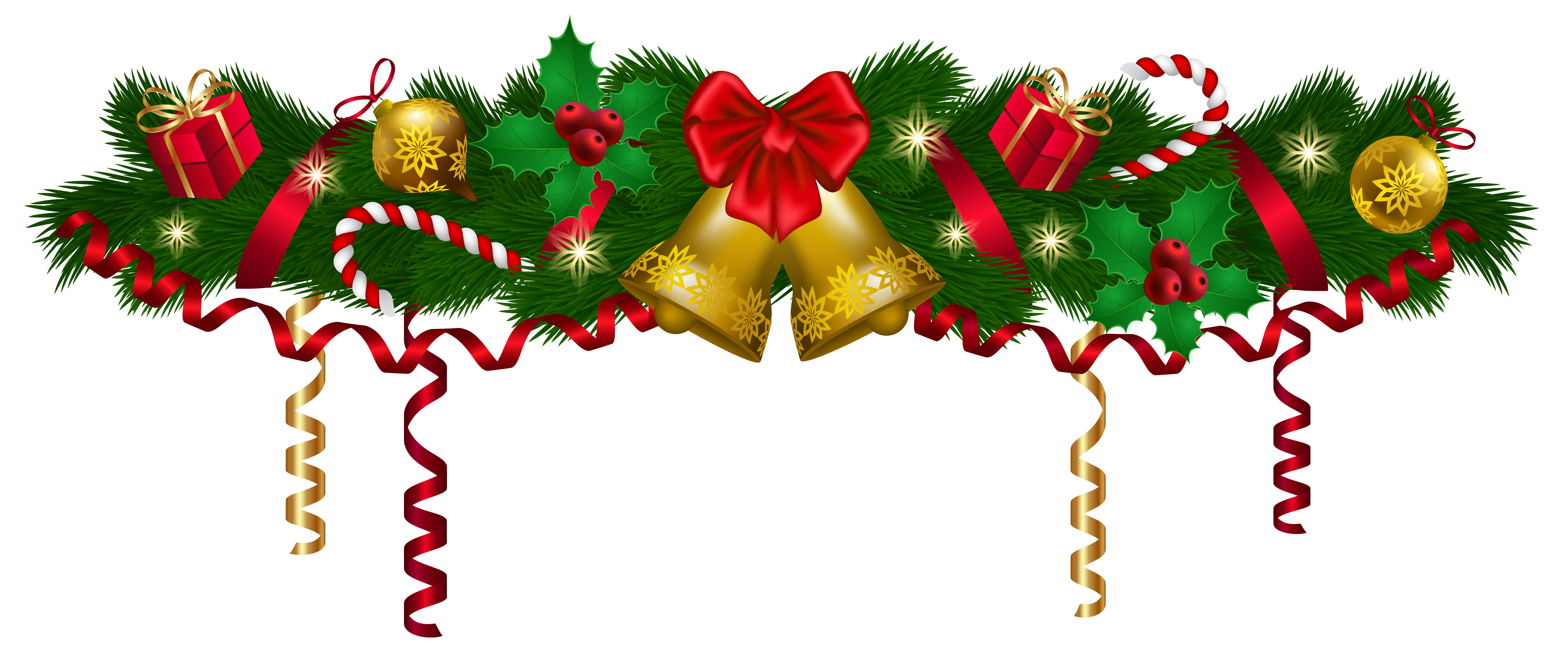 Christmas deco png clip. Fruit clipart garland
