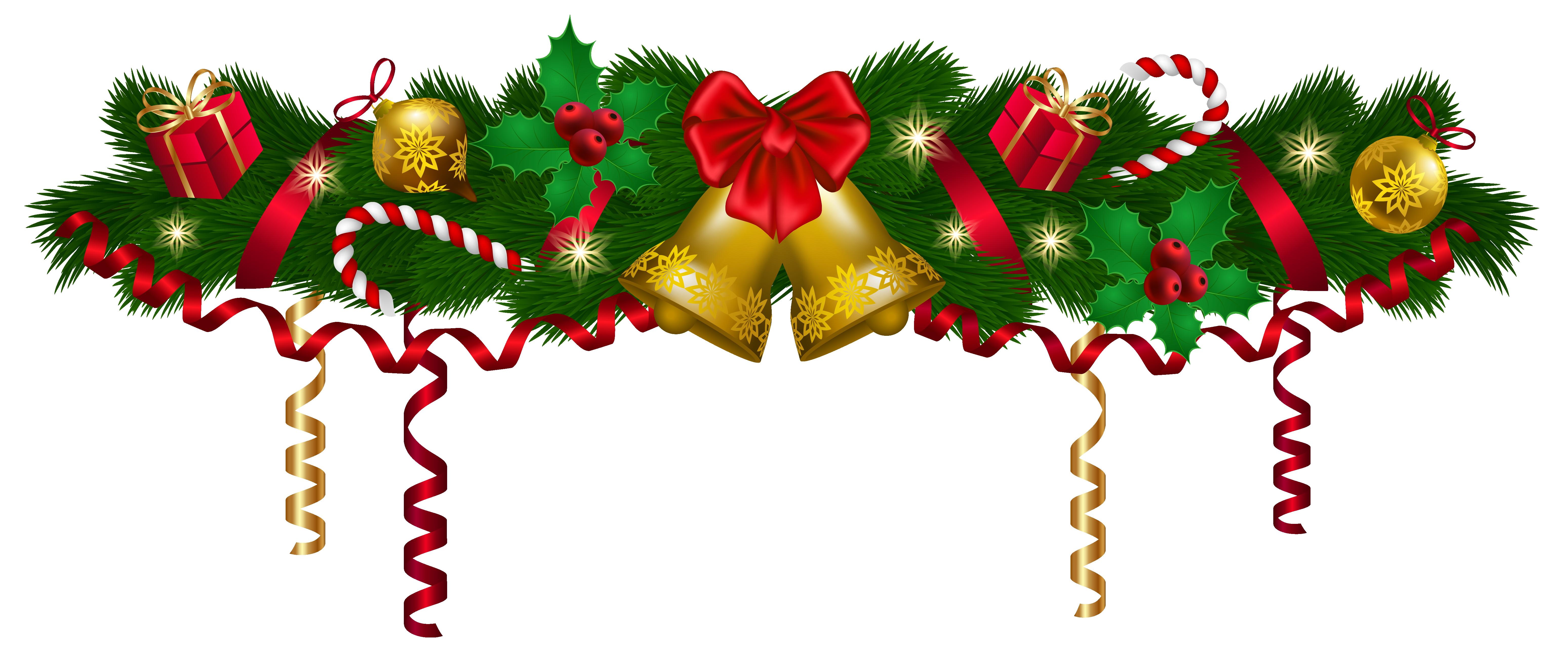 Deco clip art image. Christmas garland border png
