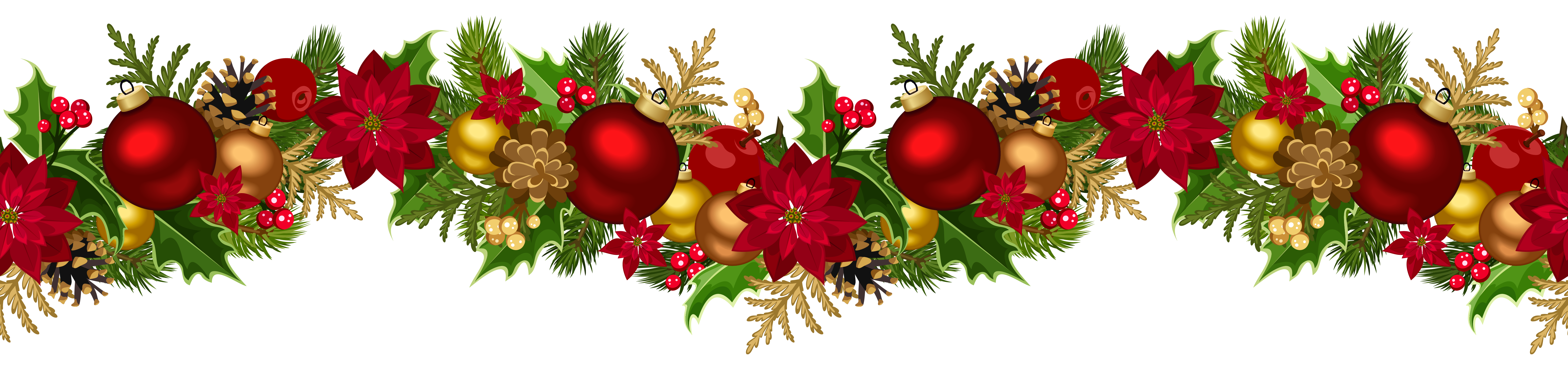 Christmas decorative png clip. Garland clipart