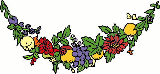 Garland clipart. Flower