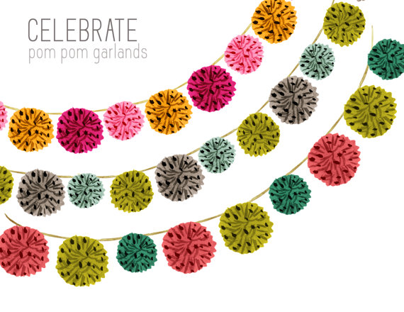 Birthday border bunting party. Garland clipart