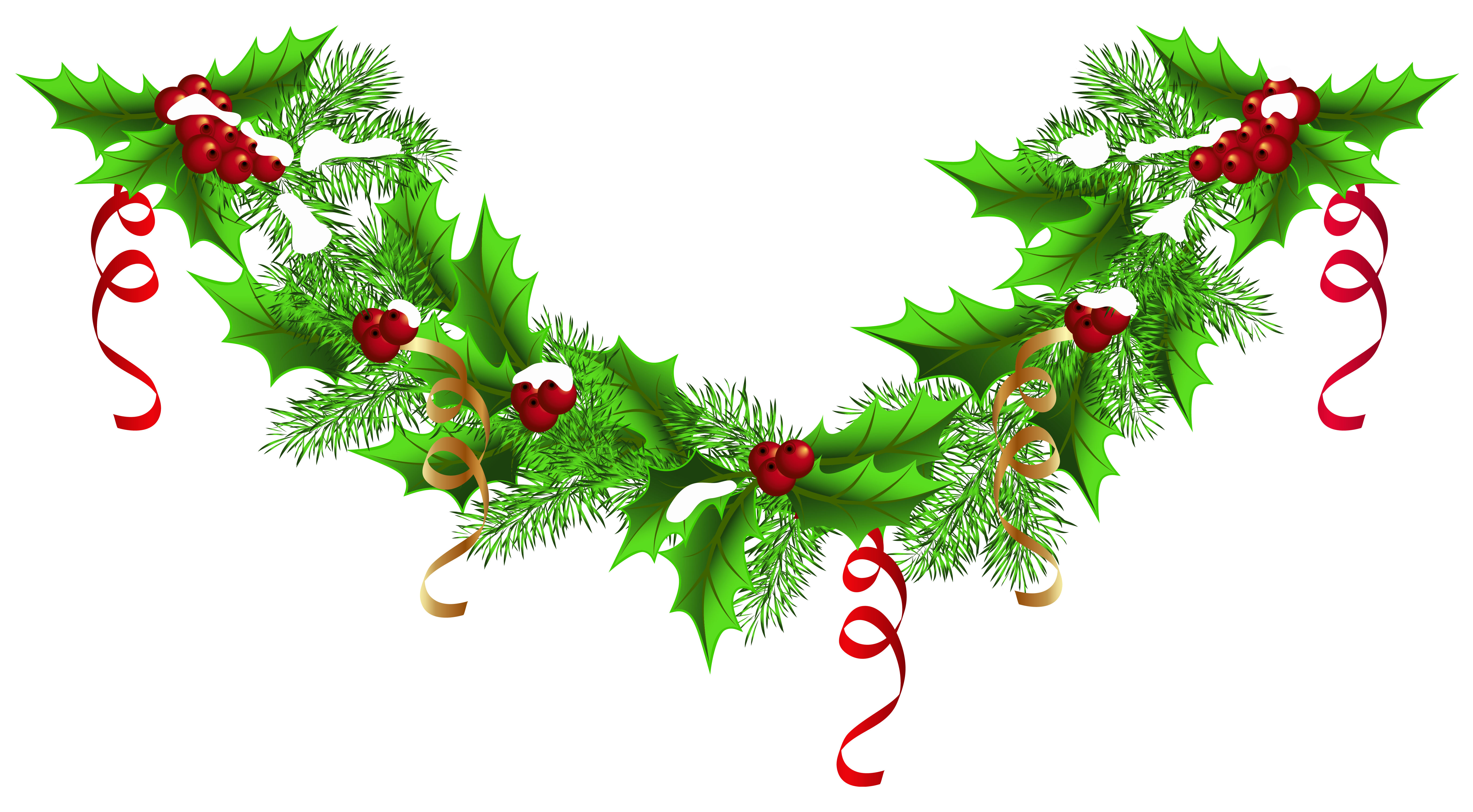 Christmas pine png clip. Fruits clipart garland
