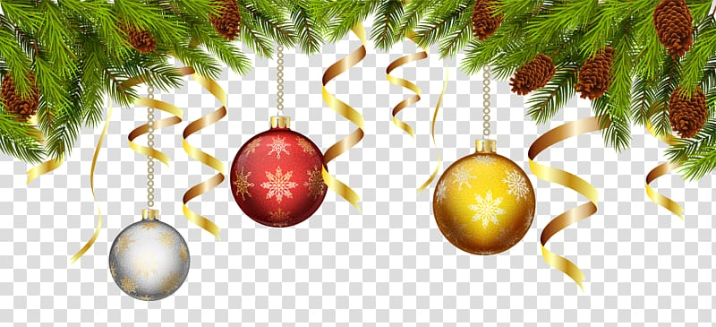 Garland clipart bauble. Gray red and gold