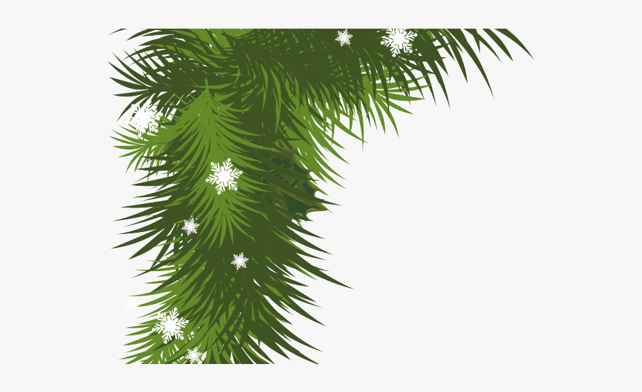 Garland clipart bough. Pine cliparts corner christmas