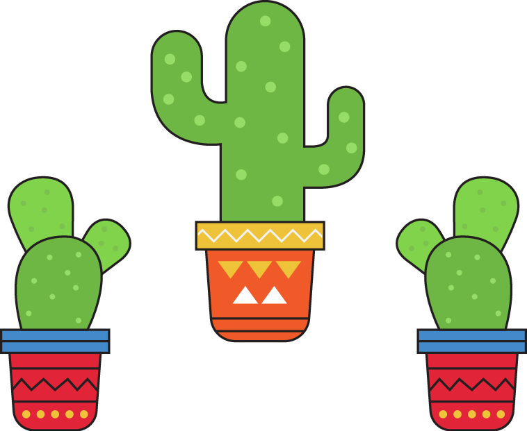 Mexico clipart cactus. Key elements for the