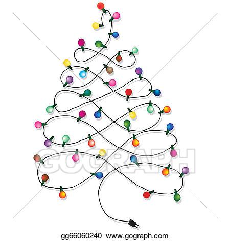 Garland clipart christmas tree garland. Eps vector stock