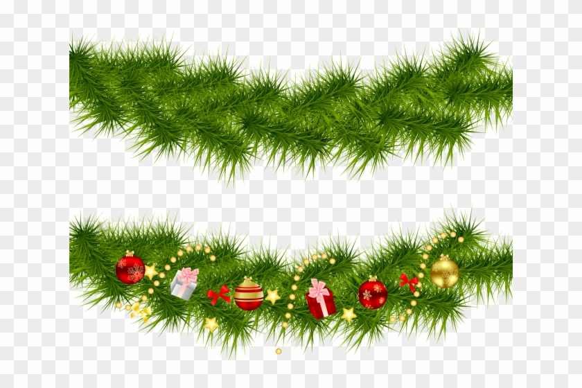 Garland clipart christmas tree garland. Ornament bough