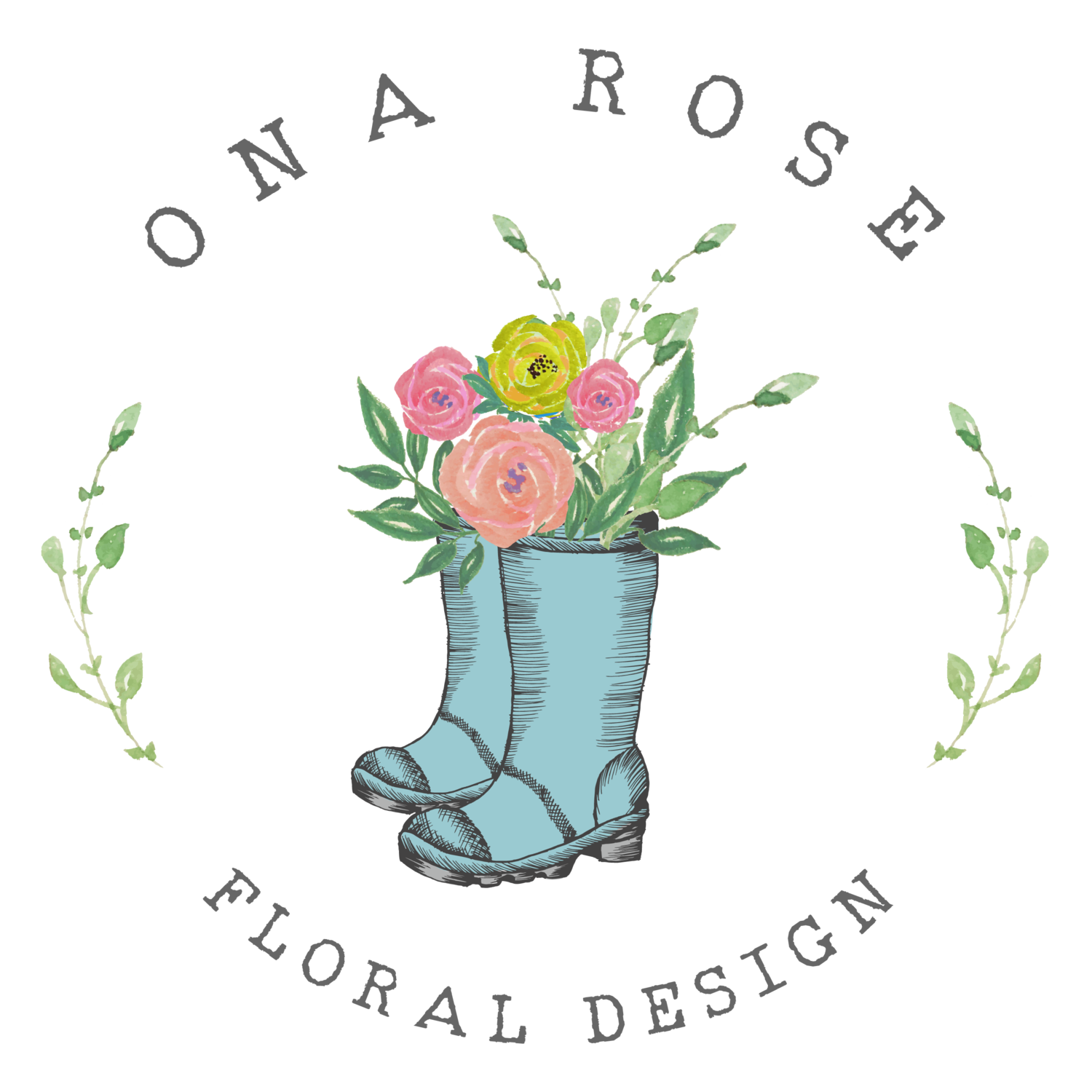 Garland clipart fern. Services ona rose floral