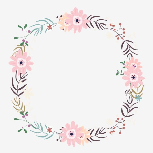 Simple color flowers png. Garland clipart flower garland