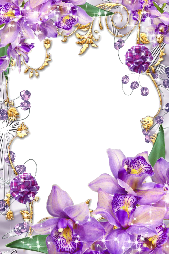 Purple border frame png. Garland clipart fruit