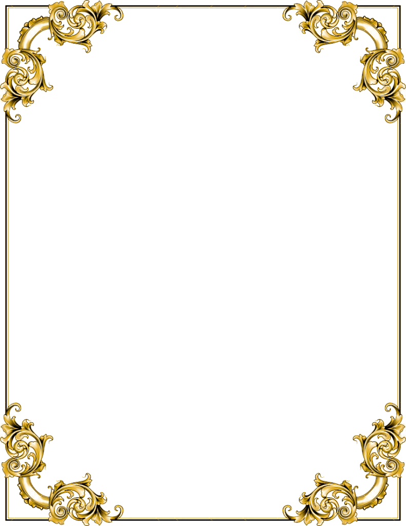 Gold border png. Frame transparent image peoplepng