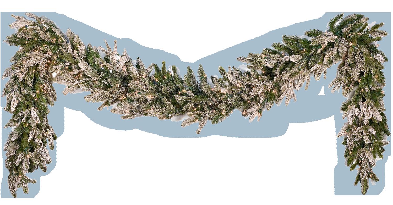 poinsettias clipart garland