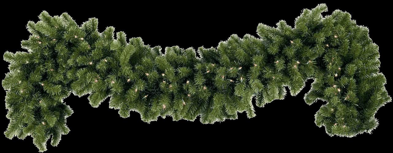 Simple christmas transparent png. Garland clipart green garland