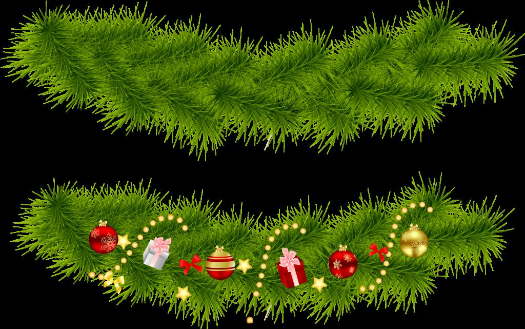 Wondrous design christmas garlands. Garland clipart green garland