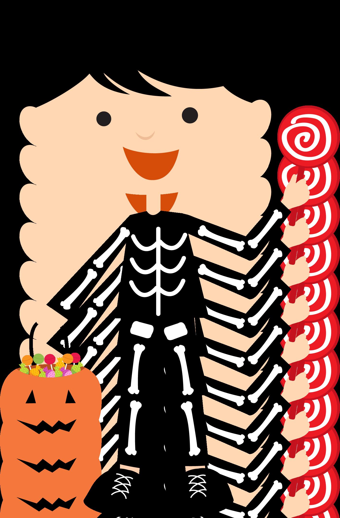 Garland clipart halloween. Bdhalloweentrickortreat png minus clip