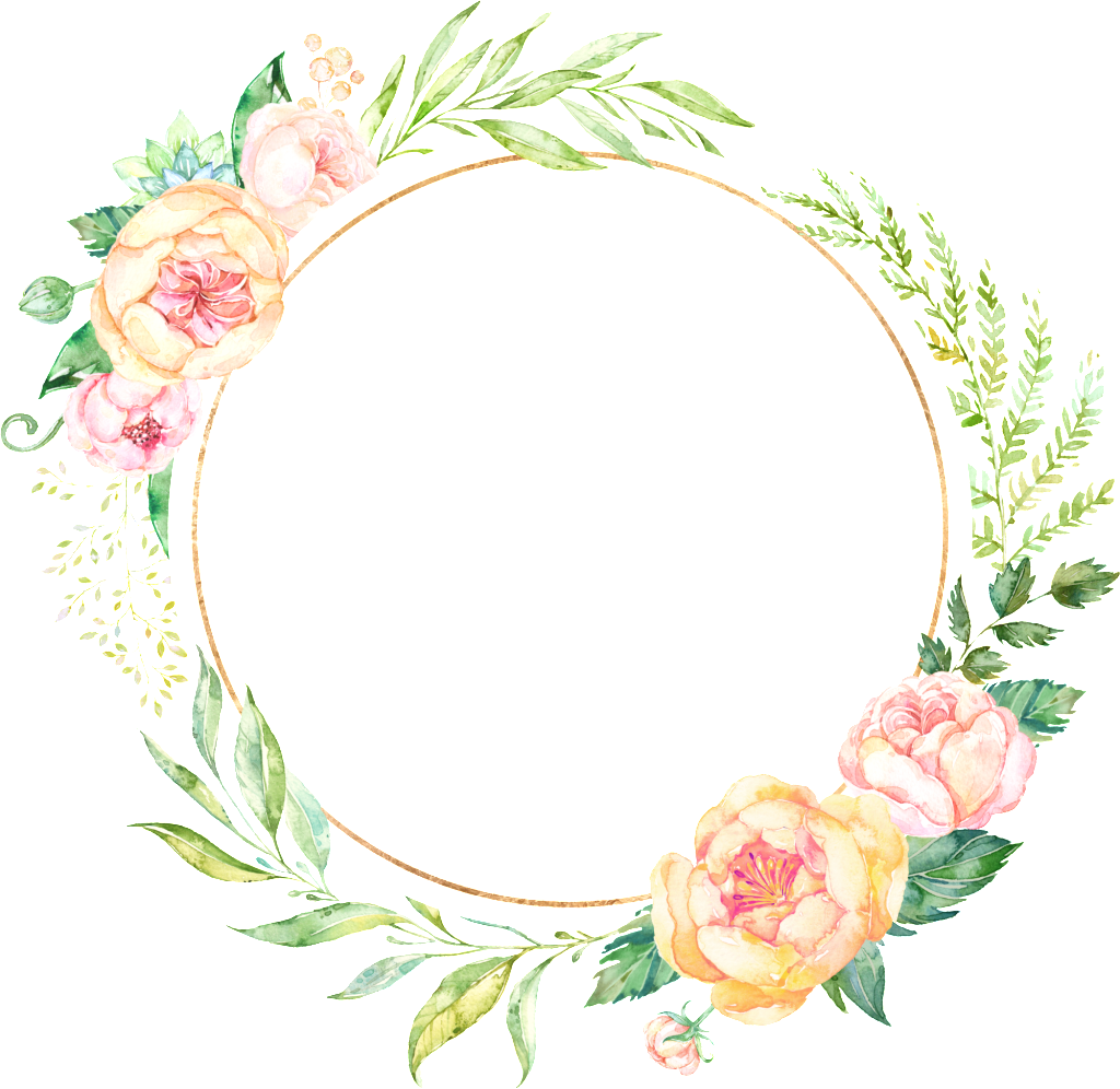 Garland clipart hand drawn. Fresh and pale pink