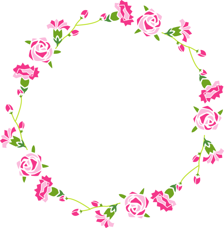 Rose flower watercolor painting. Garland clipart hand drawn