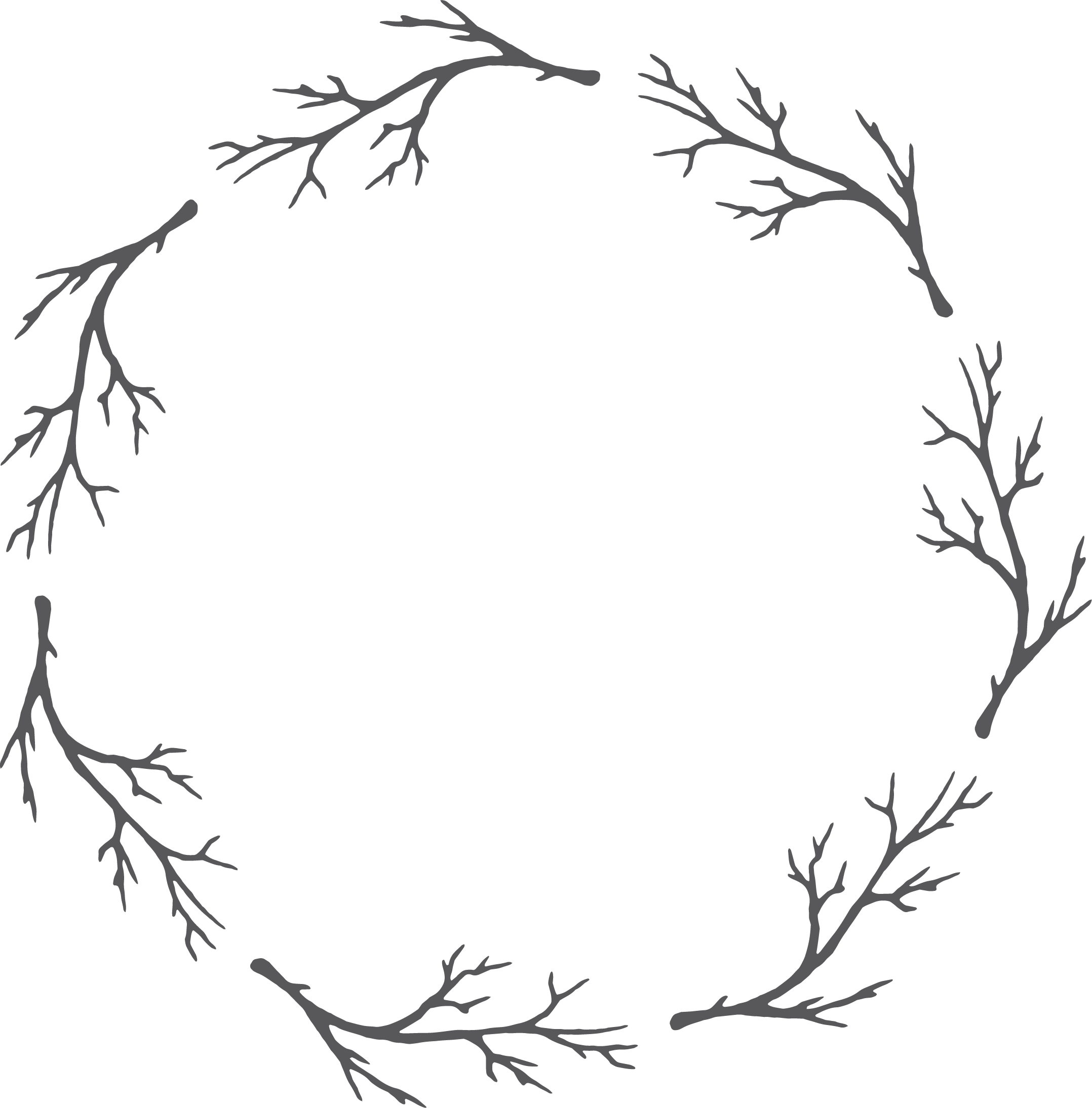 Garland clipart hand drawn. Black and white watercolor