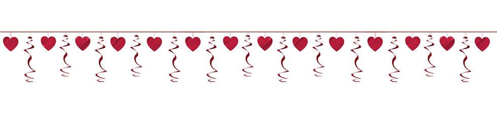 . Garland clipart heart