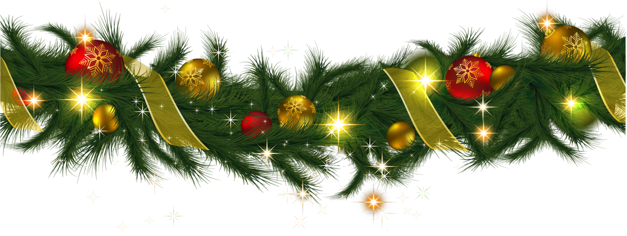 Christmas garland border transparent png. Clipart merry and happy