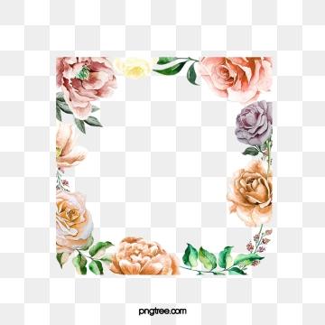 Watercolor flowers png vector. Garland clipart jpeg