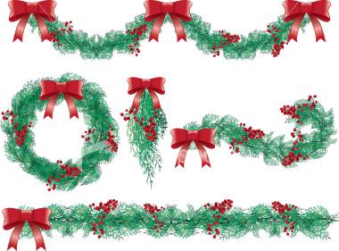 December strawberrysweetdream image . Garland clipart jpeg