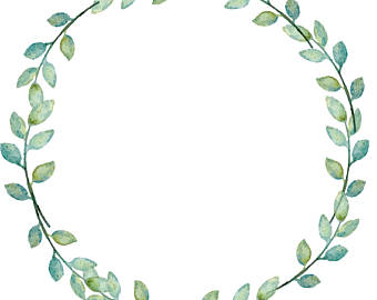 Garland clipart leafy. Laurel etsy