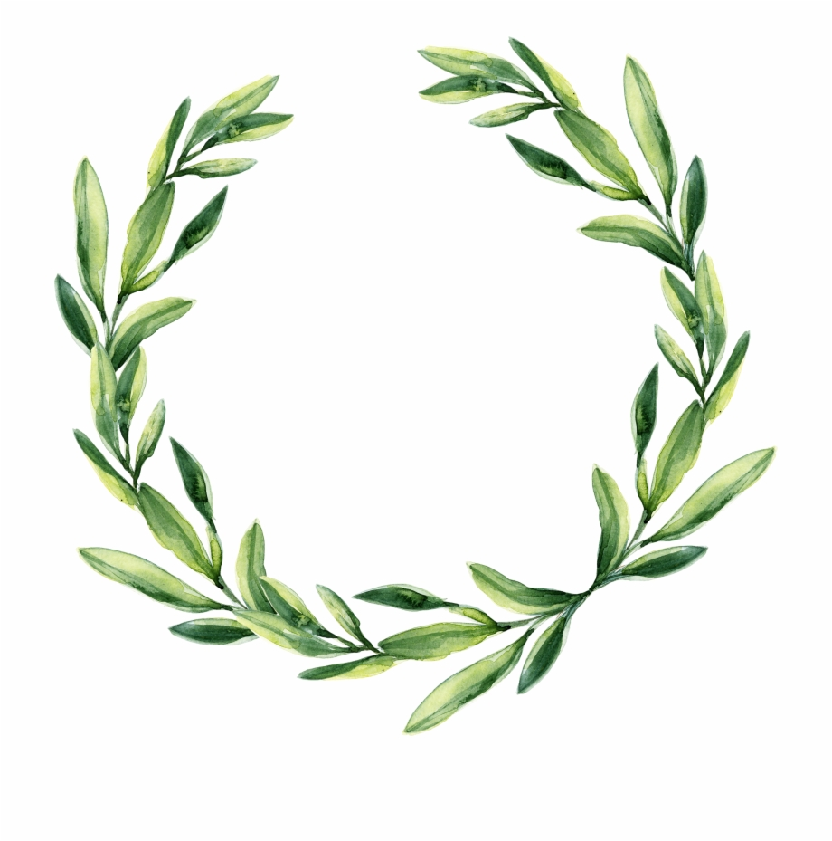 Garland clipart leaves. Leaf gift wreath watercolor