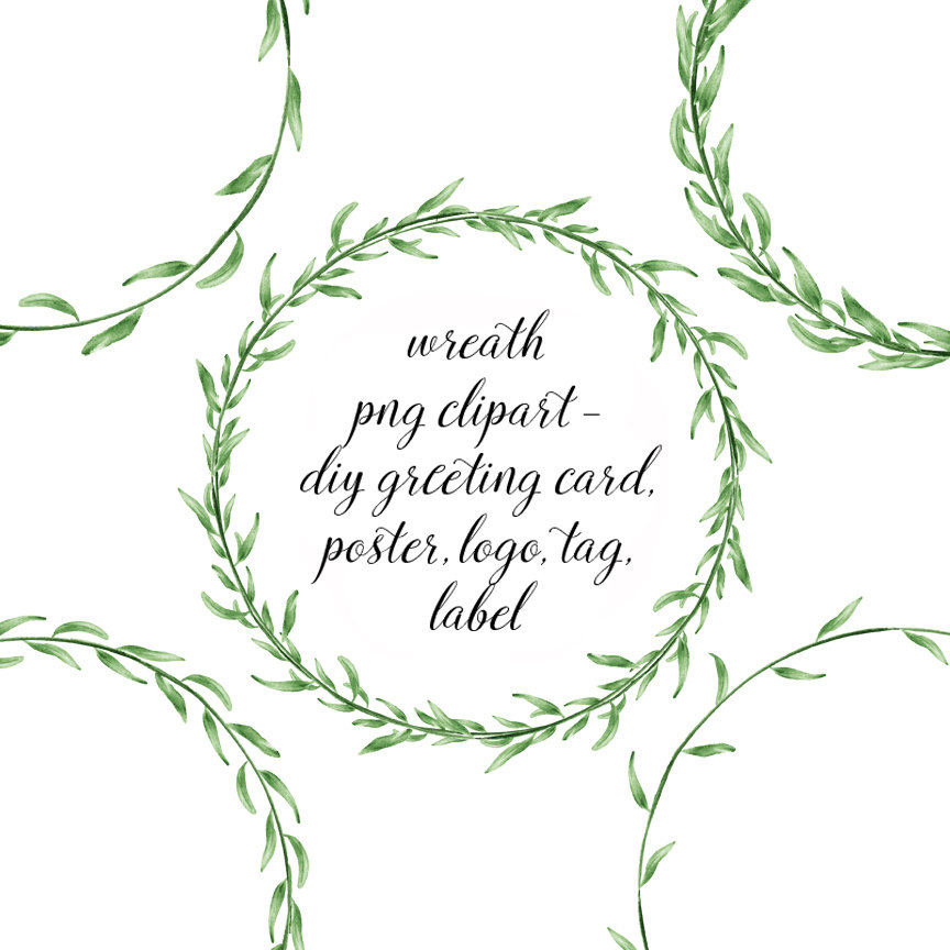 Leaf wreath clip art. Garland clipart leaves