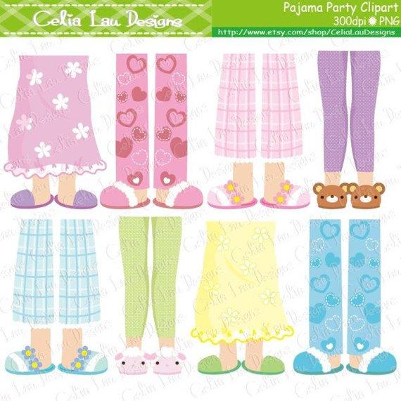 Pajama party girls feet. Pajamas clipart pajamas slipper