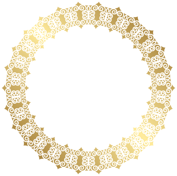 Garland clipart pearl. Round gold border transparent