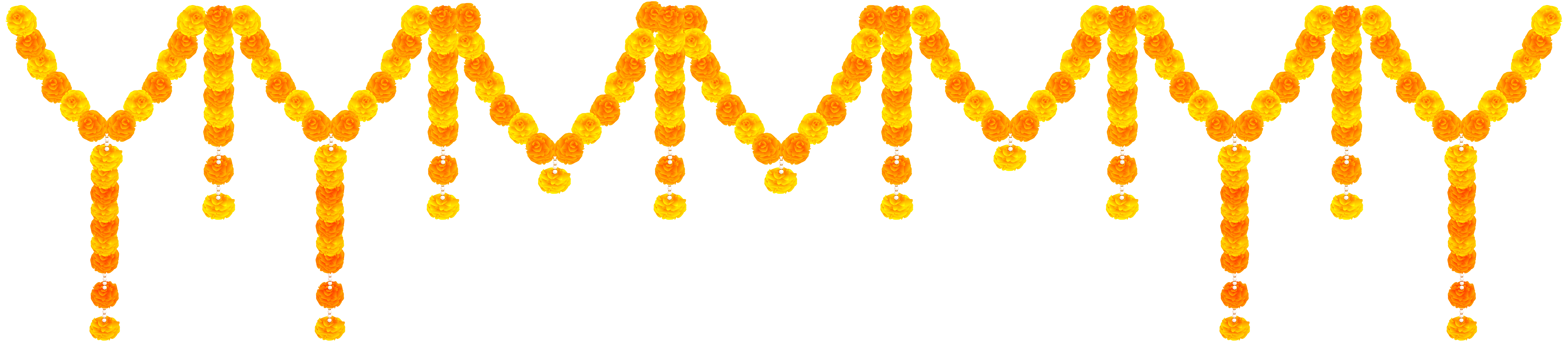 India flower transparent clip. Garland clipart pendant