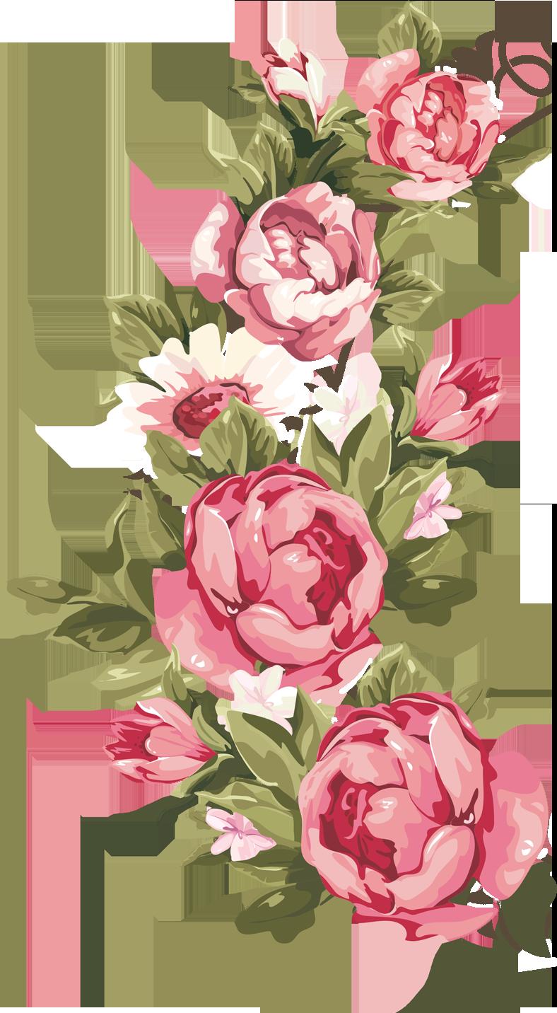 peonies garland huge. Peony clipart wedding flower