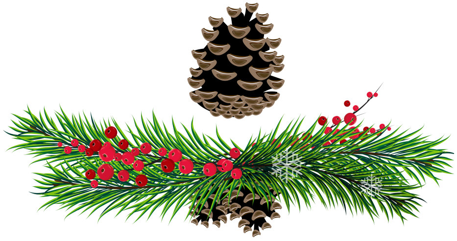 Christmas pinecone pencil and. Garland clipart pine cone