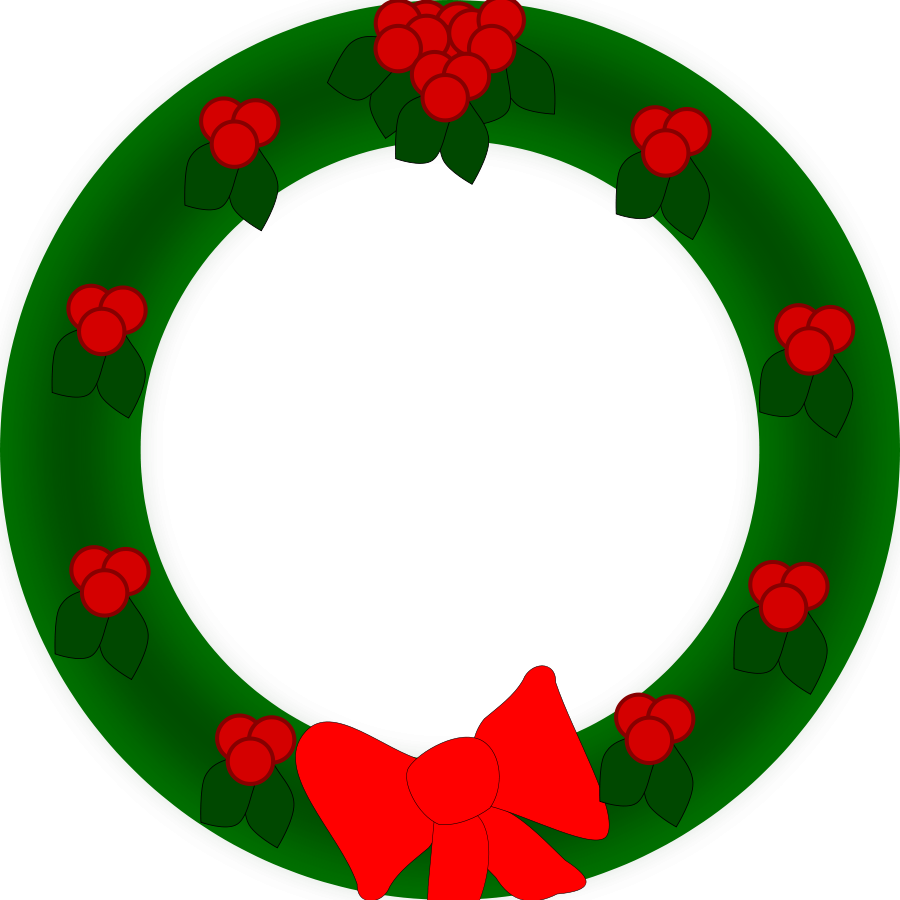 Garland clipart potluck. Free christmas wreath download