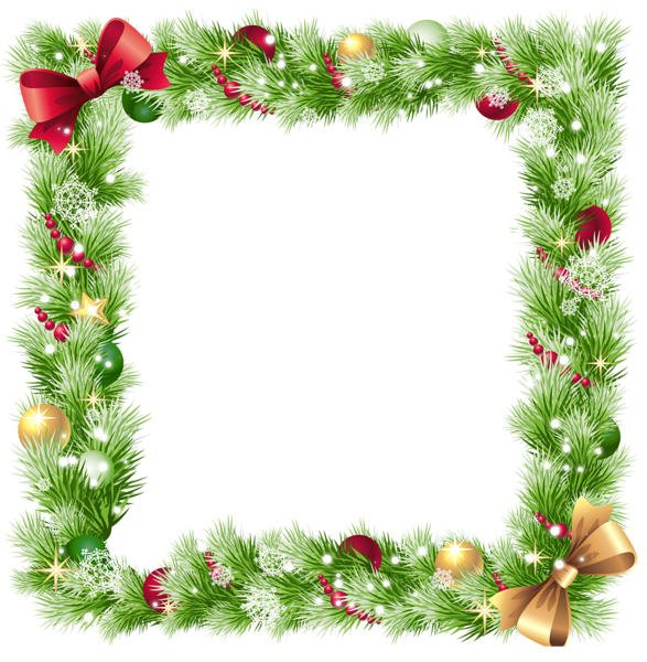 Christmas frames png frame. Garland clipart snowflakes